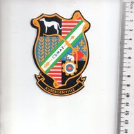 REF 1 : Sticker Autocollant Publicitaire Tir à L'arc Aubergenville - Pegatinas