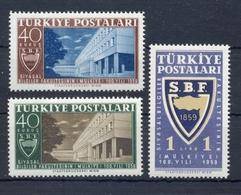 TURKEY * 1959 * Complete Set 3 Stamps * MNH** Political Faculty - Mi.No 1694-1696 - 1921-... République