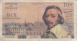 BILLETE DE FRANCIA DE 10 FRANCOS DEL 1-9-1960 RICHELIEU (BANKNOTE) - 1959-1966 Francos Nuevos
