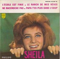 SHEILA - EP - 45T - Disque Vinyle - L'école Est Finie - 432866 - Discos De Vinilo