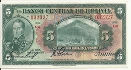 BOLIVIE 5 BOLIVIANOS  L.1928 UNC P 120 - Bolivie