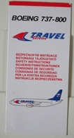 Travel Service - Boeing 737-800 | SAFETY CARD | Avion / Airplane / Flugzeug - Safety Cards