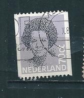 N° 1168a Reine Béatrix (roulette) 70c  . Timbre Pays-Bas 1981 Oblitéré - Period 1980-... (Beatrix)