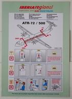 Iberia Regional (Air Nostrum) - ATR72 | SAFETY CARD | Avion / Airplane / Flugzeug - Safety Cards