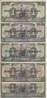 BOLIVIE 1 BOLIVIANO ND1929 VF P 112 ( 5 Billets ) - Bolivie