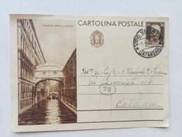1936 - Intero Postale Con Veduta Del Ponte Dei Sospiri A Venezia - Stamped Stationery