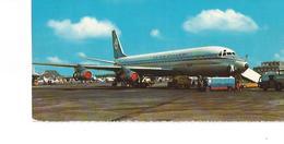 CP AVION DOUGLAS DC 8 AMSTERDAM   KLM   14X6CM  CARTE QUI A été Dé COUPé - 1946-....: Era Moderna