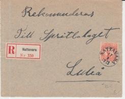 SCHWEDEN REGISTERED 17/09/1913 NATTAVARA NACH LULEA - Suède