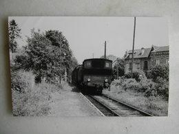 PHOTO J. Bazin - Train - Arrivée à Soisy - 1954 - Trains