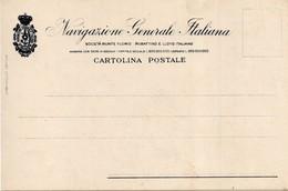 NAVIGAZIONE GENERALE ITALIANA - CARTOLINA POSTALE GENERICA - FORMATO PICCOLO - (rif. V09) - Piroscafi