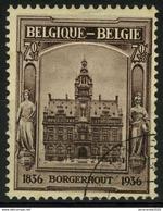 [A1943] België 436 - Gemeentehuis Borgerhout - Uit BL5 - Hôtel De Ville De Borgerhout - Du BL 5 - O - Used - Used Stamps