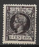 Cuba 1898. Scott #161 (M) King (Alfonso XII) - Cuba (1874-1898)