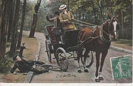 75016 - PARIS - Les Femmes Cocher, Un Accident Au Bois De Boulogne - Distretto: 16
