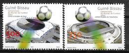 GUINEE BISSAU  N°  1037/38  * *  ( Cote 8e )  Cup 2002   Football  Soccer Fussball Stade - Coupe Du Monde