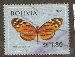 Bolivia  1970 SG  877 Butterfy  Heliconius Felix Fine  Used - Bolivia