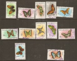 Nicaragua  1967  SG  1580-91  Butterflies  Fine Used - Nicaragua