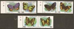 Vanuata  1983 SG 355-60   Butterflies Unmounted Mint - Vanuatu (1980-...)