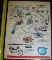 PUB PUBLICITE NSU QUICKLY ETS HOLLEBECQ HEYSEL BRUXELLES - Vieux Papiers