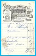 """1907 Facture Illustrée Maison CHARVIN Pâtisserie (passage) Choiseul """"Croustades"""" 75002 PARIS - Levensmiddelen"""