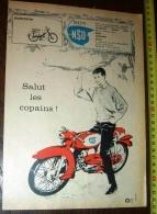 PUB PUBLICITE NSU CYCLOMOTEUR SCOOTER MOTO ETS HOLLEBECQ - Vieux Papiers