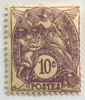 YT 233 (*) MH 1927-31 Type Blanc 10c Violet (côte 4,6 Euros) – 3bleu - 1900-29 Blanc