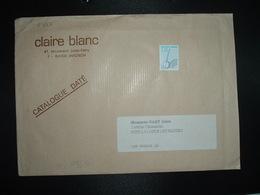 LETTRE TP PREO BANJO 3,51 + CLAIRE BLANC (84 AVIGNON) - Precancels