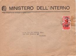 Busta Da Ministero Interno A Trieste Con Bollo Collodi( 226 ) - 6. 1946-.. Repubblica