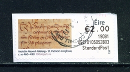 IRELAND  -  2018 St Patrick's Confession Post And Go SOAR CDS Used As Scan - Used Stamps