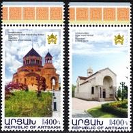 ARMENIA ARTSAKH / KARABAKH 2020-01 Churches. Religion Architecture, MNH - Churches & Cathedrals