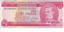 BILLETE DE BARBADOS DE 1 DOLLAR DEL AÑO 1973  (BANKNOTE) - Barbados