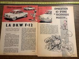 PUB PUBLICITE AUTO DKW F12 F 12 - Vieux Papiers