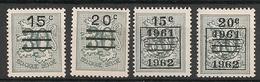 1172/1173A Lion Héraldique / Heraldieke Leeuw Met Opdruk ** - Neufs