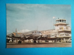AVION DOUGLAS DC-6 - CARTE FORMAT CPA VIERGE - - Avions