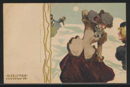 Ansichtskarte Raphael Kirchner Künster Jugendstil Art Nouveau Eisblumen Frauen - Illustrators & Photographers
