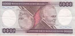 BILLETE DE BRASIL DE 5000 CRUZEIROS DEL AÑO 1984 (BANKNOTE) - Brésil
