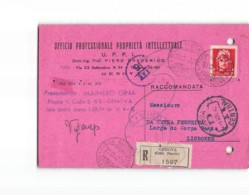 13374 UFFICIO PROFESSIONALE PROPRIETA INTELLETTUALE GENOVA X LISBONA RACCOMANDATA - 2 LIRE IMPERIALE - 1900-44 Vittorio Emanuele III
