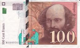 BILLETE DE FRANCIA DE 100 FRANCS DEL AÑO 1998 DE CEZANNE SERIE M (BANKNOTE) - 1992-2000 Ultima Gama