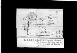 CG28 - Lett. Da S: Maria Magg. X Novara 29/4/1853 - 1. ...-1850 Prefilatelia