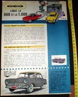 PUB PUBLICITE AUTO UNION  600 1000 DKW 660 PAR JIDEHEM HISTOIRE MIMILE LE ROUTIER EMILE MARTIN DE ST SAINT FLOUR - Vieux Papiers
