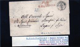 CG28 - Lett. Da S. Salvatore X Lugano Vezia 18/2/1853 - 1. ...-1850 Prefilatelia