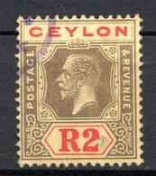 CEYLAN - (Colonie Britannique) - 1921-28 - N° 219 - 2 R. Gris Et Rouge S. Jaune - (George V) - Ceylon (...-1947)