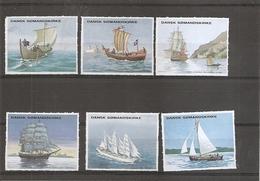 Bateaux - Voiliers ( Lot De 6 Vignettes Privées Du Danemark à Voir) - Ships