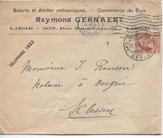 REF682/ TP 74 S/L.Pub.Raymond Gernaert Commerce De Bois C.méc.Liège + Càp Liège Départ 22/10/07 > Sclessin C.d'arrivée - 1905 Grosse Barbe