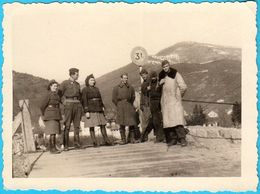 WW2 - YUGOSLAVIA PARTISANS ON GORAZDE BRIDGE (I/1946.) - Original Old Photo * Bosnia * Partisan Partizans Partizan - 1939-45