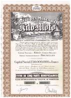 Titre Ancien- Société Des Mines D'Or De Kilo-Moto - Sté Congolaise à Responsabilité Limitée - N° 063211 A 063215 - Mines