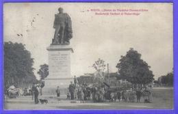 Carte Postale 51. Reims Statue Du Maréchal Drouet-d'Erlon Boulevard Gerbert Et Victor Hugo  Très Beau Plan - Reims