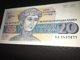 See Photos. Bulgaria Banknote 20 Leva - Woman UNC 1991 - Bulgarie