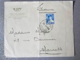 Lettre A En Tete  Coty Sa Roumaine Bucarest 1928 Avec Cachet D Arrivée Pour Marseille - Poststempel (Marcophilie)
