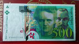 Billet De 500 Frcs CURIE De 1994 En SUP... - 500 F 1994-2000 ''Pierre Et Marie Curie''