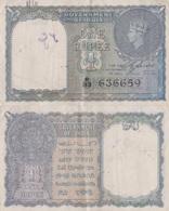 India / 1 Rupee / 1940 / P-25(a) / XF - India